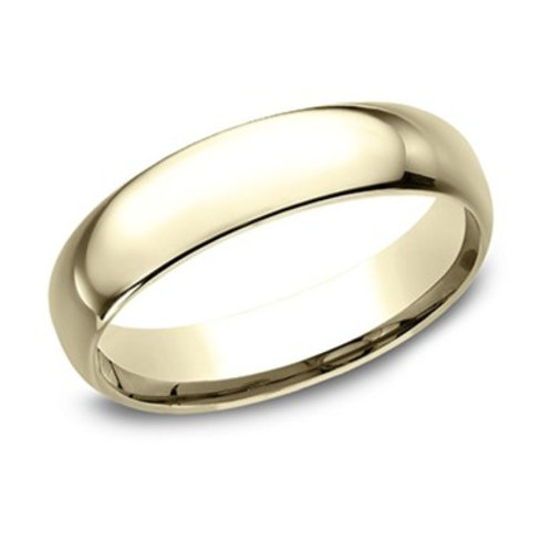 14kt Yellow Gold Men's Comfort Fit Plain Wedding Band