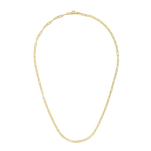 14kt Yellow Gold Paperclip Necklace