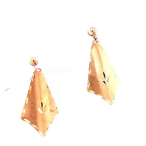 Estate 14kt Yellow Gold Dangle Fancy Earrings