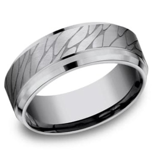 Tantalum Pebble Finish Men's Wedding Band
