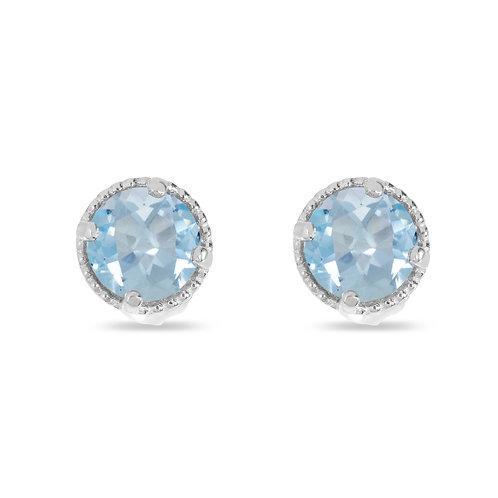 14kt White Gold Aquamarine Earrings