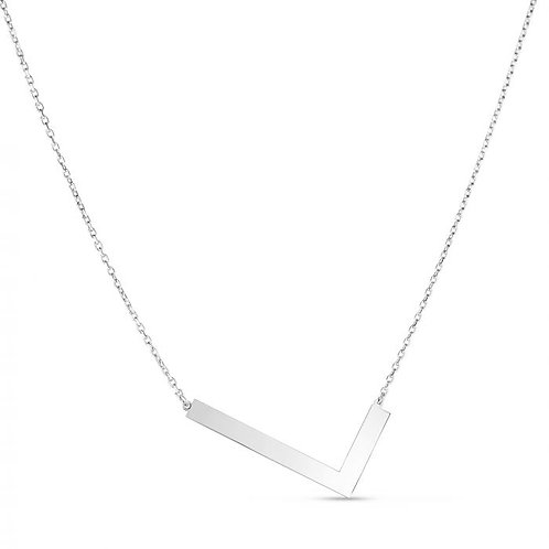 """Sterling Silver """"L"""" Large Initial Necklace"""