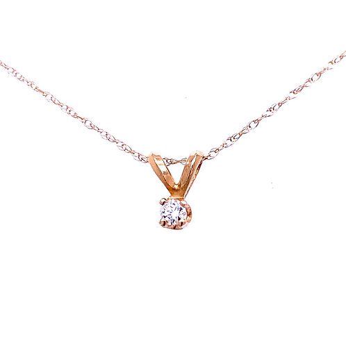 Estate 14kt Yellow Gold Diamond Pendant