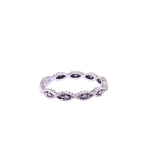 Estate 14kt White Gold Diamond Band