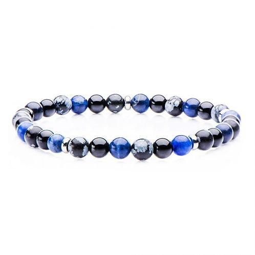 Onyx Stone Bead Bracelet