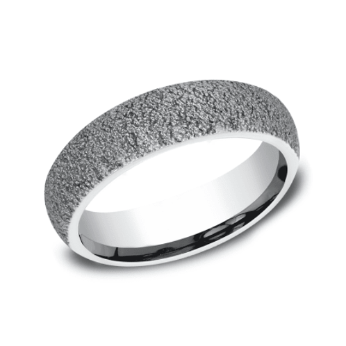 Cobalt Concrete Finish Wedding Band