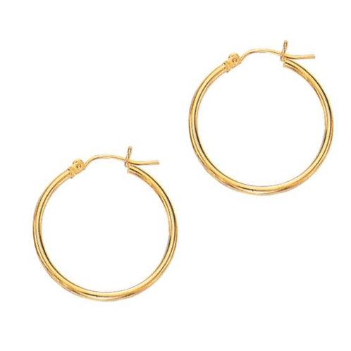 14ktYellow Gold Classic Hoop Earrings