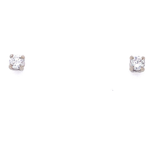 Estate 14kt White Gold Diamond Stud Earrings