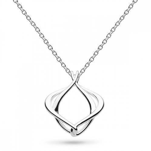 Sterling Silver Entwine Alicia Small Necklace