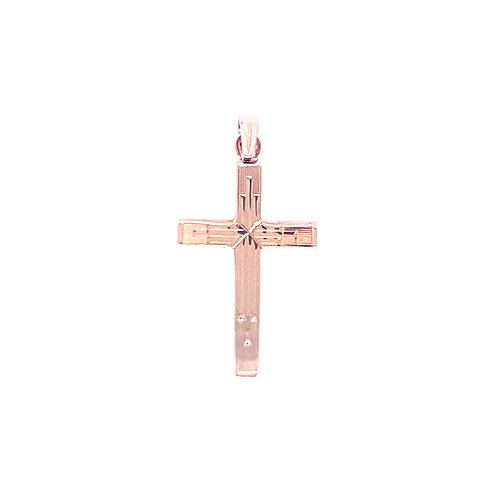Estate 14kt Yellow Gold Engraved Cross