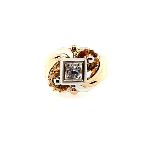 Estate 18kt Yellow Gold Cubic Zirconia Lady's Ring