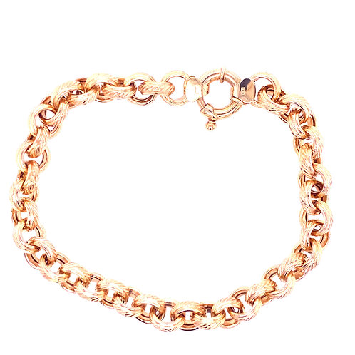 Estate 14kt Yellow Gold Rolo Bracelet