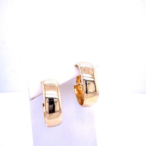 Estate 14kt Yellow Gold Wide Hoop Earrings