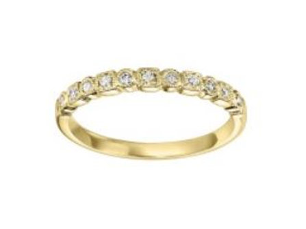 10kt Yellow Gold Diamond Stackable Band