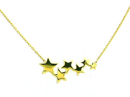 14kt Yellow Gold Stars Necklace