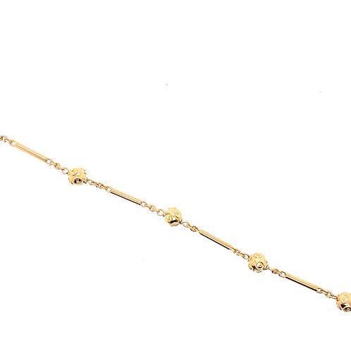 Estate 18kt Yellow Gold Filigree/Bar Bracelet