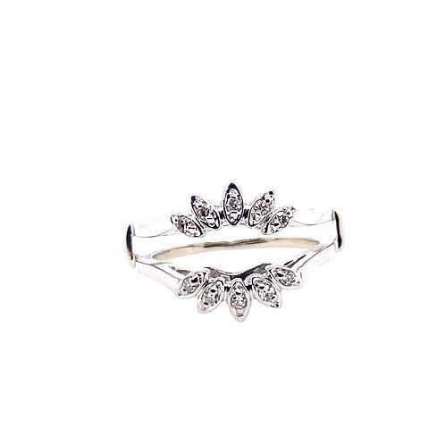 Estate 14kt White Gold Diamond Insert Lady's Ring