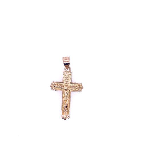 Estate 14kt Yellow Gold Crucifix Charm