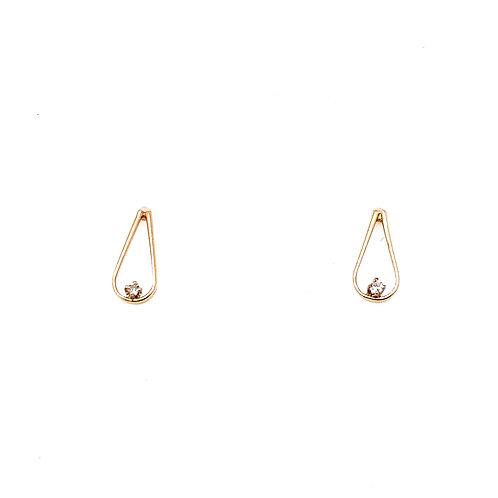 Estate 14kt Yellow Gold Small Tear Drop Earrings