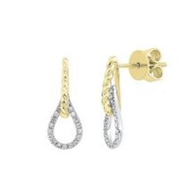 14kt Two-Tone Gold Diamond Earrings