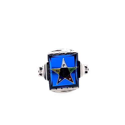 Estate 10kt White Gold Eastern Star Ring