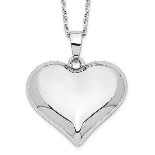 Sterling Silver Heart Ash Holder Pendant