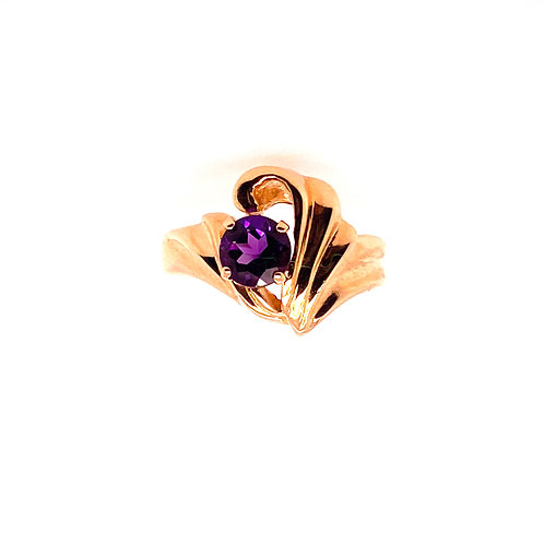 Estate 14kt Yellow Gold Amethyst Ring