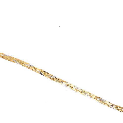 Estate 14kt Two Toned Gold Braid Bracelet