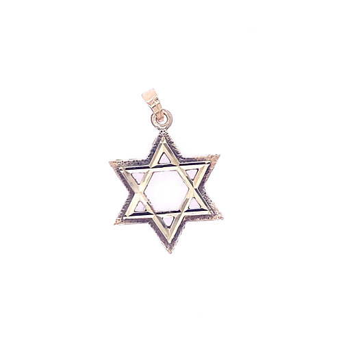 Estate 14kt Yellow Gold Star Of David Charm