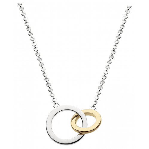 Dew Double Link Gold Plate Necklace