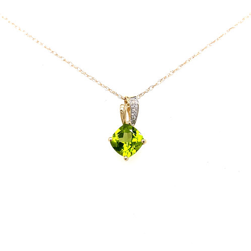 Estate 10kt Yellow Gold Peridot Necklace