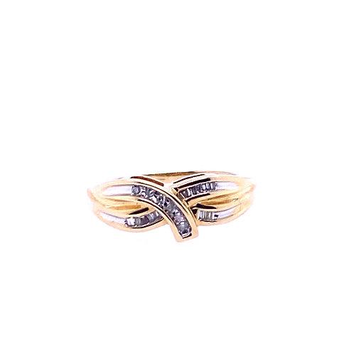 Estate 10kt Yellow Gold Diamond Fancy Ring