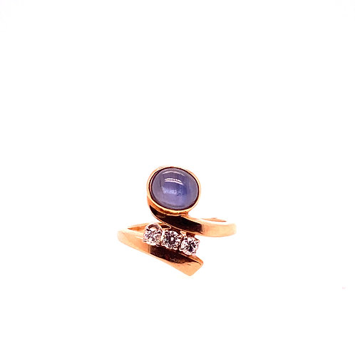 Estate 14kt Yellow Gold Star Sapphire Ring