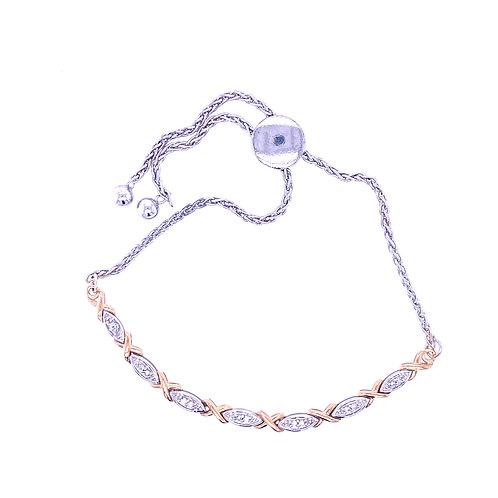 Sterling Silver X/O Bolo Bracelet