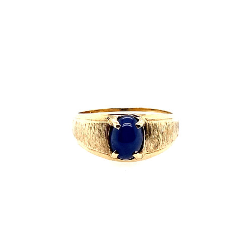 Estate 10kt Yellow Gold Gents Star Sapphire Ring