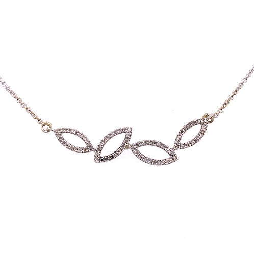 Sterling Silver Diamond Fancy Necklace