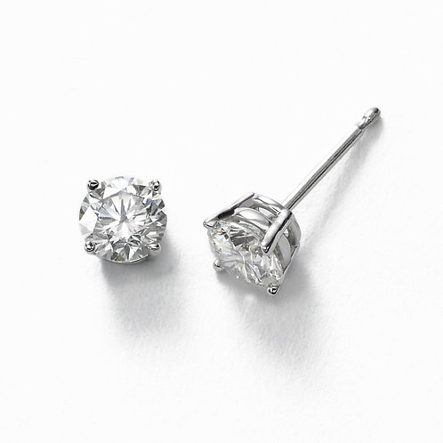 14kt 0.45cttw White Gold Diamond Stud Earrings