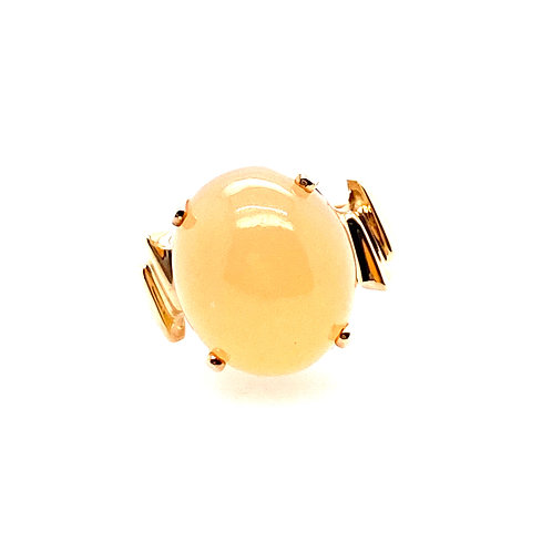 Estate 10kt Yellow Gold Peach Moonstone Ring
