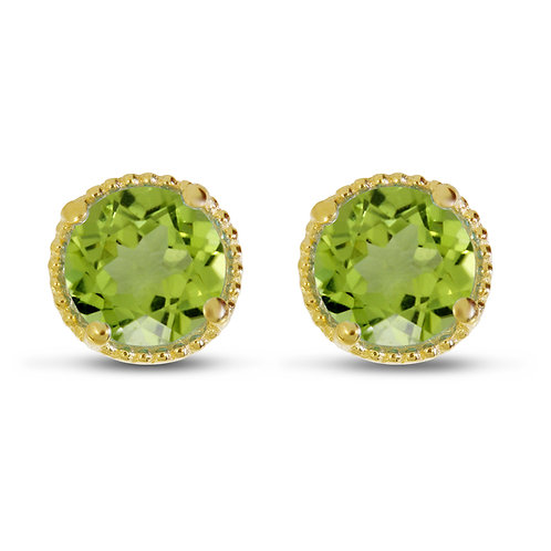 14kt Yellow Gold Peridot Earrings