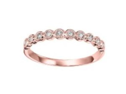 10kt Rose Gold Diamond Stackable Band