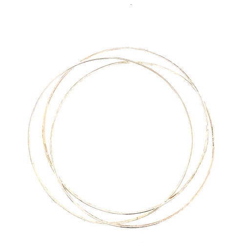 Sterling Silver 3 Intertwined Slip On Bangles