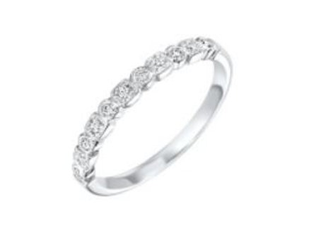 10kt White Gold Diamond Stackable Band