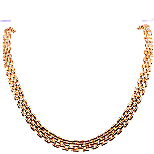Estate 14kt Yellow Gold Panther Necklace