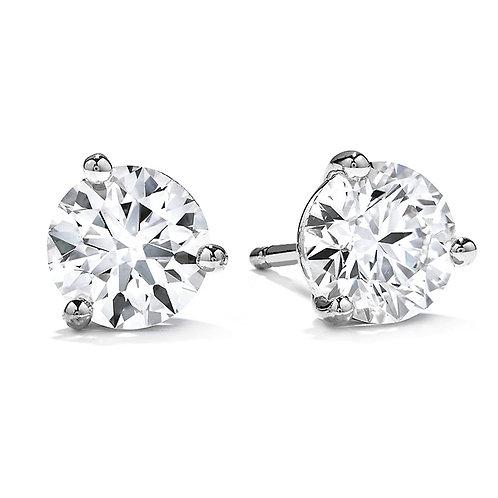 14kt 1.40cttw White Gold Diamond Stud Earrings