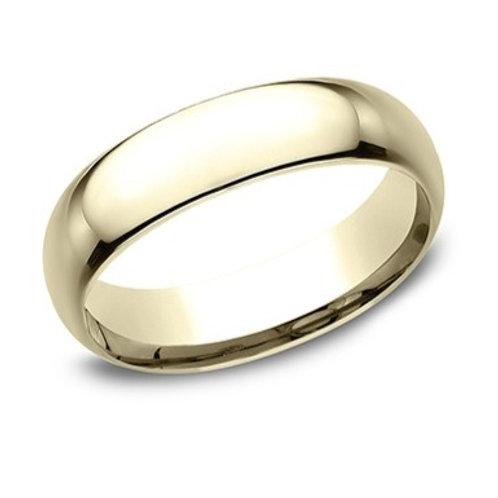 14kt Yellow Gold Men's Comfort Fit Plain Wedding Band