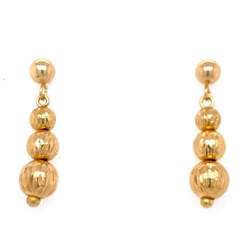 Estate 18kt Yellow Gold Dangle Earrings
