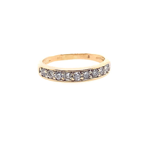 Estate 14kt Yellow Gold Diamond Channel Band