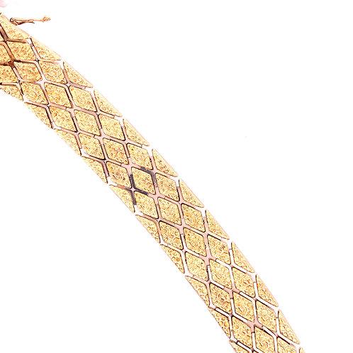 Estate 18kt Yellow Gold Wide Bracelet