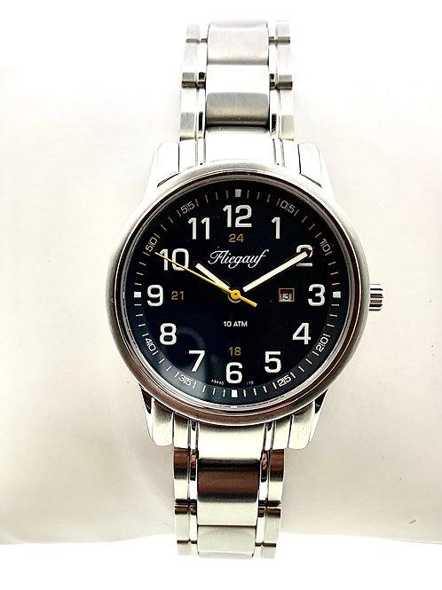 """White """"Fliegauf"""" Belair Blue Dial Wrist Watch"""
