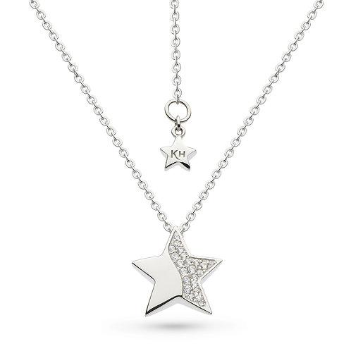 Sterling Silver Miniature Sparkle CZ Super Star Pendant